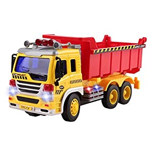 Remote Control Dump Truck Construction RC Truck 1:16 Four Channel Full Function w/ Lights Battery Powered RC Truck Toy