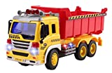rc dump trucks with trailer - Remote Control Dump Truck Construction RC Truck 1:16 Four Channel Full Function w/ Lights Battery Powered RC Truck Toy
