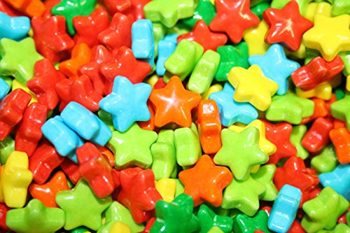 [Neon Stars Colorful Candy (3 pounds)] (Mr Gum Costume)