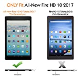 MoKo Case for All-New Amazon Fire HD 10 Tablet (7th Generation, 2017 Release) - Lightweight Stand Folio Shockproof Cover Protector with Auto Wake/Sleep for Fire HD 10.1 Inch Tablet, Slate BLACK