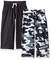 Gerber Graduates Baby Boys' 2 Pack Pants, Black/Black Camo, 12 Months