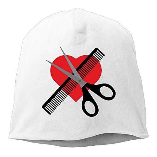Scissors & Comb & Heart Haircut Beanies Cap For Men - Sunglasses Haircut