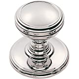 Fingertip Design Solid Delamain Plain Cupboard Cabinet Knob - Polished Chrome (25mm dia) by Carlisle Brass