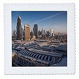 3dRose Danita Delimont - Cities - UAE, Downtown Dubai. Dubai Mall, elevated view - 22x22 inch quilt square (qs_277102_9)