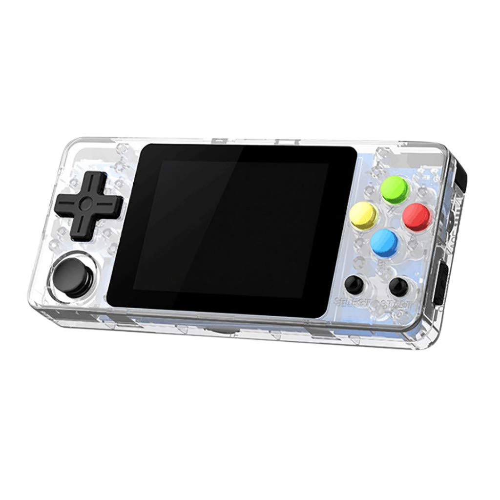 Startview Handheld Gaming Console, 2.7'' Color Screen, Portable Video Game Player for Kid Adult (Clear)