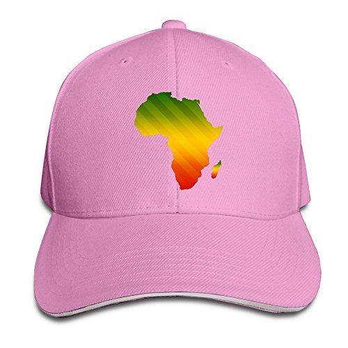 (Africa Map Shape Stylish Hiphop Cap)