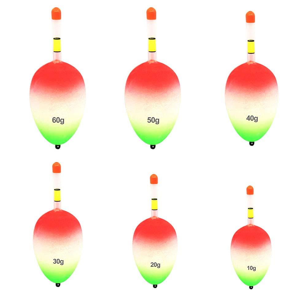 zum Angeln von Bauch SparY 5 St/ück Angelposen 10//20//30//40//50//60 g luumin/öse Beleuchtung Eva-Schaum