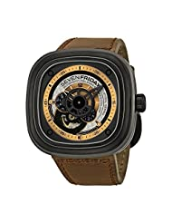 SEVENFRIDAY Men's P2-1 Revolution Analog Display Japanese Automatic Brown Watch by SEVENFRIDAY