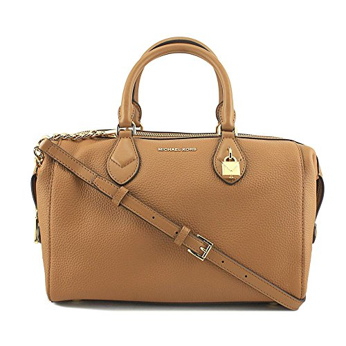 Michael Kors Grayson Large Convertible Pebbled Leather Satchel - Acorn (Grayson Kors Handbag Michael)