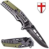 USMC pocket knife — EDC Tourist Tactical Folding Knife Stainless steel blade nice Anti-glare Corrosion Resistance - Outdoor Military Knife with G10 Knife Handle - GrandWay FL 16008 B