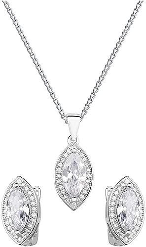 *Beforya Paris * – Princess Zircon – Superbe parure de bijoux – Argent 925  Belle parure pour femme avec cristaux de Swarovski – Magnifique parure avec  ...