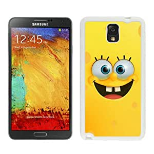 Unique Samsung Galaxy Note 3 Case ,Popular And Durable Designed With spongebob smiling face White Samsung Galaxy Note 3 Cover