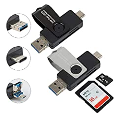 Product Description: Read almost all your memory cards with speed and convenience. Excellent quality. Made of durable, high-grade plastics and premium aluminum alloy. Memory Card Reader with OTG(Android phone/Tablet must with OTG function)...