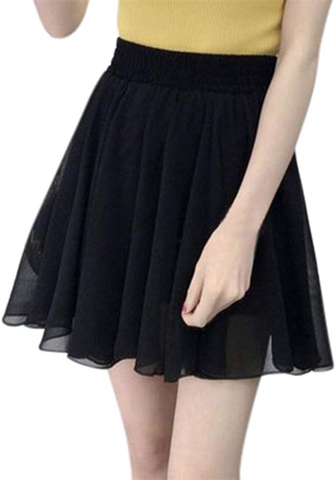 Mcaishen Faldas De Verano para Mujer, Nueva Falda De Color Sólido ...