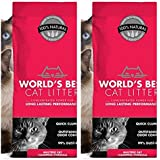 World's Best 2 Pack Cat Litter ORIGINAL SERIES, 14 Pound Bag MULTI-CAT CLUMPING, ODOR CONTROL, PET, PEOPLE & PLANET FRIENDLY (Fast Free Delivery)