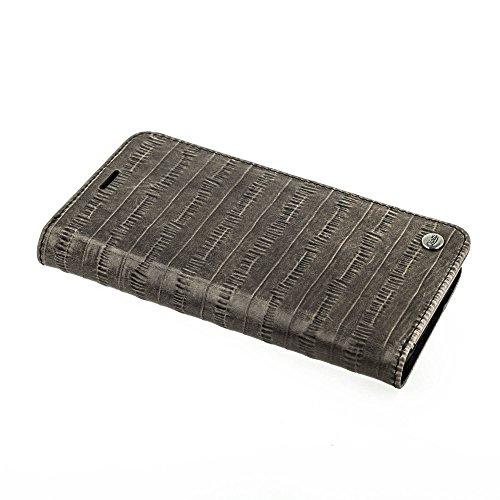QIOTTI >              SAMSUNG GALAXY S8              < incl. PANZERGLAS H9 HD+, RFID Schutz, 2-in-1 Booklet mit herausnehmbare Schutzhülle, magnetisch, 360 Grad Aufstellmöglichkeit, Wallet Case Hülle Tasche handgefertigt aus h