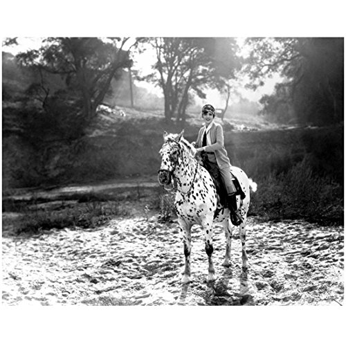 Mary Astor 8 inch x 10 inch PHOTOGRAPH The Maltese Falcon Meet Me in St. Louis Dodsworth B&W Riding Spotted Horse - Celebrity Spotted