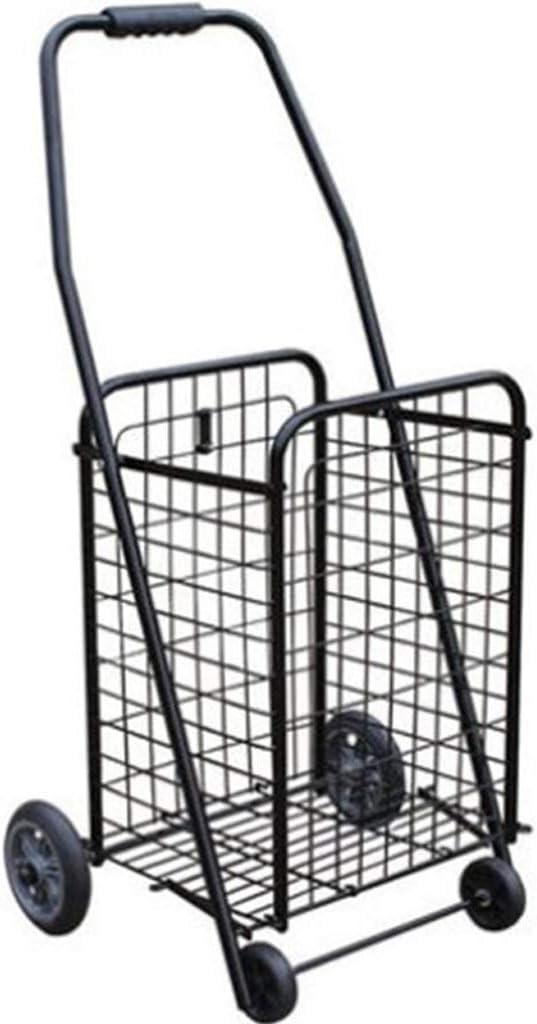 Carro de la Compra Antiguo Carro de la Compra Carrito pequeño Carrito Plegable Escalada portátil Portátil Carrito Carrito Tienda de comestibles Compras (Color : Black, tamaño : 88cm)