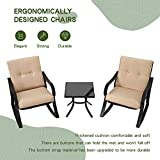 SOLAURA 3-Piece Outdoor Rocking Chairs Bistro