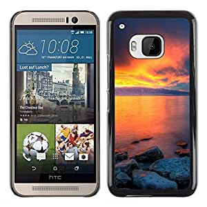 Exotic-Star ( Sunset Beautiful Nature 36 ) Fundas Cover Cubre Hard Case Cover para HTC One M9