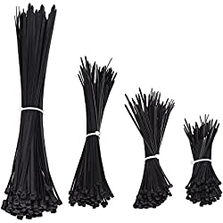 eBoot 400 Pieces Cable Zip Ties for Home Office Garage Workshop, 4, 6, 8, 12 Inches
