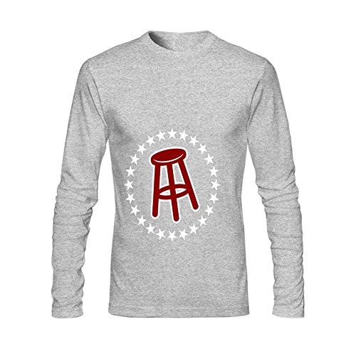Afterfashion Mens Barstool Sports O Neck Long Sleeve T Shirt Xl Grey