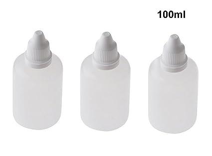 10 botellas de plástico vacías recargables apretables con tapones de rosca y tapones para cosméticos,