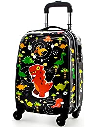 d48f40d28 Lttxin cute kids suitcase pull along boys travelling with 4 wheel hard  shell 18 inch (