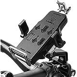 Livall Unisexe H2Premium Support de Vélo pour Guidon de Vélo avec 360Rotation Support pour Téléphone Portable, Compatible avec 4–6en iOS Smartphone Android, Noir