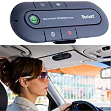 Wireless Multipoint Bluetooth Hands Free Car Speakerphone Speaker Visor Clip RF