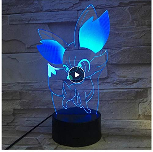 Beleuchtung 3D Illusion Lampe LED Birne Multicolor Kinder Geschenk Kid Toy Holiday Party