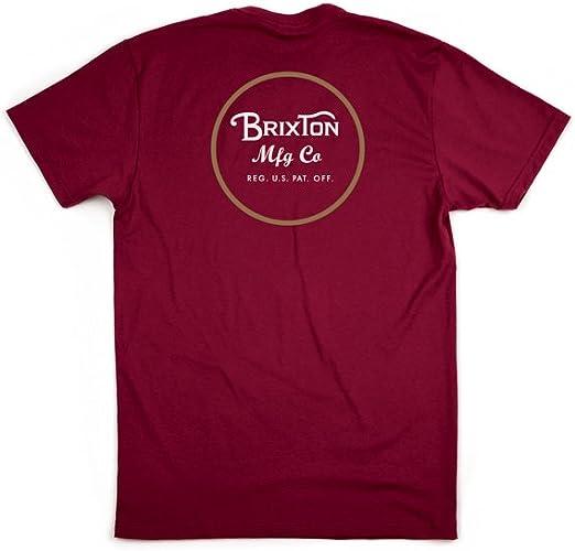 BRIXTON Wheeler II S/S Stnd tee - Camiseta Hombre: Amazon.es: Ropa y accesorios