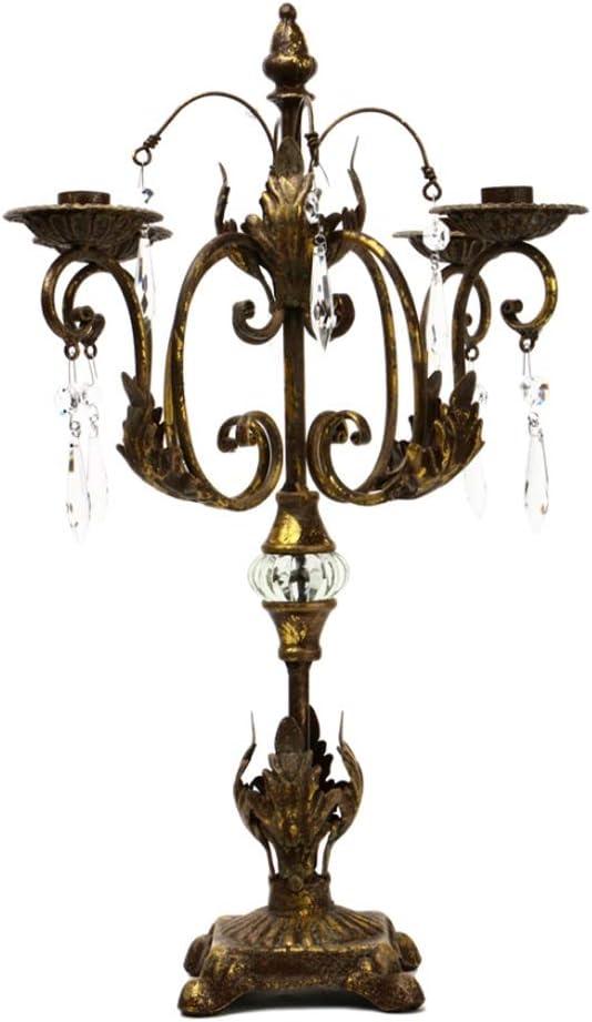 FABAX Candelero Portavelas Hierro Forjado sostenedor de Vela de 4-Brazos Soporte de la Vela del Pilar Antiguos candelabros de Velas decoración Elegante decoración de la Boda para Creativo