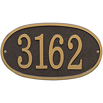 personalized cast metal oval house number custom address plaque sign bronze gold diy mid century modern plaques amazon