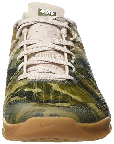 Gum Med Brown Uomo Metcon NIKE Multicolore Scarpe 300 Olive 4 Running Canvas White wavvz4q