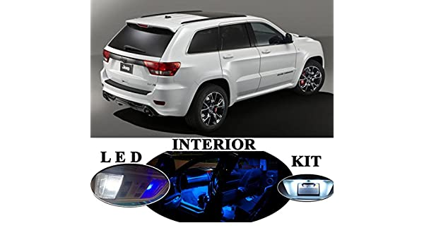 LED Package License Plate Vanity Reverse for Jeep Grand Cherokee 8 Pcs
