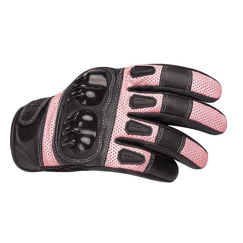 BILT Women's Sprint Leather Motorcycle Gloves - MD, - Gloves Leather Supermoto
