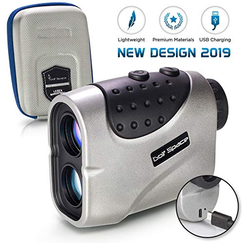 Golf Laser Range Finder by Golf Space - Rangefinder Binoculars Power Device With High Precision. Measuring Distance Slope Angle and Flag Lock. Hunting Binocular Rangefinders. Rechargeable