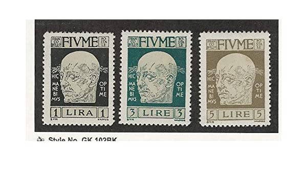 Fiume Postage Stamp 95 97 98 Mint Nh 1920 Jfz At