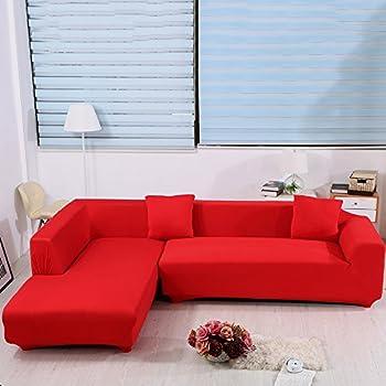 Amazon Com Cjc L Shape Sofa Covers 2pcs Polyester Fabric