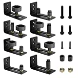 Barn Door Guide Stay Roller Guide Adjustable Wall Mounted Sliding Door Guide with 8 Different Setups-Flush to Floor