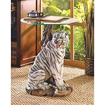 Charmant Coffee Table Home Patio Decorative Tiger Statue Furniture Vanity End Tables  Console Entryway Accent Bedside Office