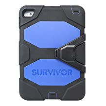 Griffin GB41356 Survivor All-Terrain iPad Mini 4 Carrying Case, Black/Blue