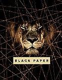 Black Paper Sketch Book - 8.5 x 11: Large Lion