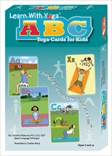 Learn with yoga abc yoga cards for kids yoga cards christine learn with yoga abc yoga cards for kids yoga cards christine ristuccia say it right charles beyl 9781934701072 amazon books altavistaventures Images