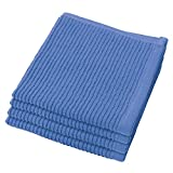 Now Designs Ripple Kitchen Dishcloth, Set of 4, Royal Blue
