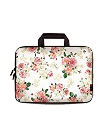 "iColor Floral 16"" 16.5"" 17"" 17.3"" Netbook / Laptop Ultra-Portable Neoprene Sleeve Carrying Case Briefcase Handle Bag Pouch Tote for Apple MacBook Pro, Lenovo, HP, Dell, Toshiba, Acer, Samsung, ASUS 16.5"" 17"" 17.3"" Laptop PC IHB17-07"