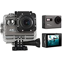 niceEshop(TM) WIFI 4K Ultra HD Sport Action Camera 1080P 60fps HDMI 20MP+ 170 Degree Wide Viewing Angle Waterproof DV Camcorder for Outdoor Sports, Silver