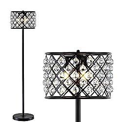Crystal/Metal Floor Lamp