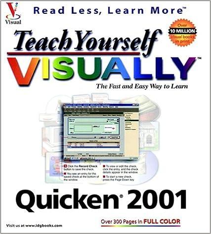 Book Teach Yourself Quicken 2001 VISUALLY (Teach Yourself Visually)